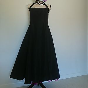 Niki by Niki Livas Black Halter Dress
